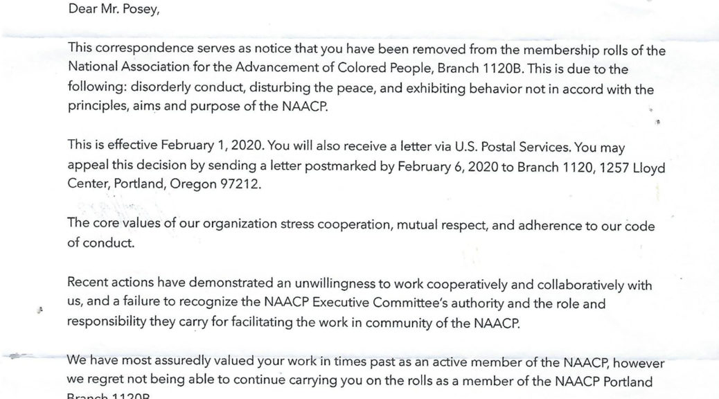 NAACP Illegal Attempt to Purge 1